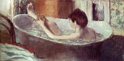 Edgar degas- mujer en bañera